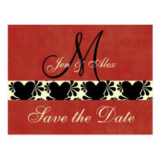 Monogram Wedding Save the Date Cards
