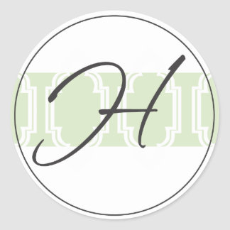 Monogram Wedding Seal - Peridot Stickers