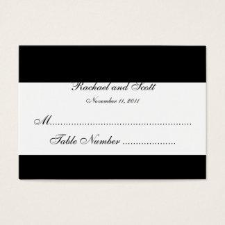 Monogram Wedding Seating Cards Chubby Size