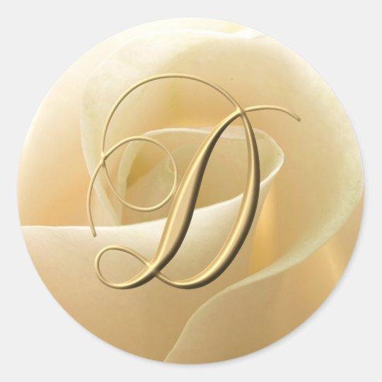 Monogram Wedding Stickers - letter D