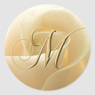 Monogram Wedding Stickers - letter M