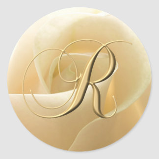 Monogram Wedding Stickers - letter R