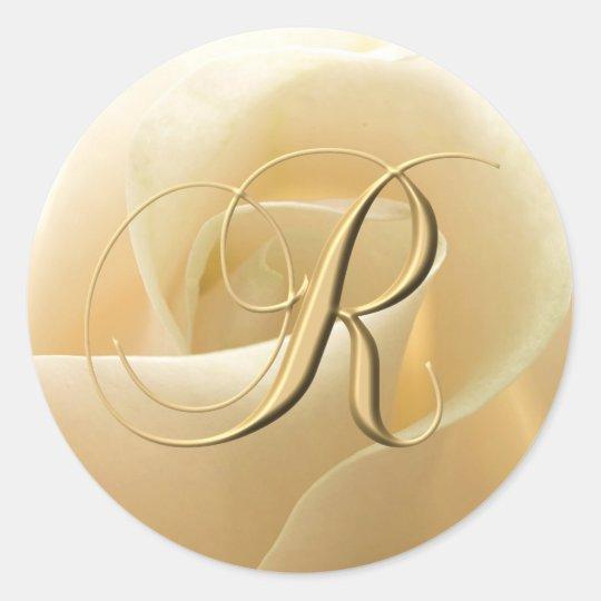 Monogram Wedding Stickers - letter R