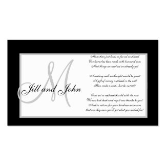 Monogram Wedding Wishing Well Cards Double-Sided Standard Business Cards (Pack Of 100)