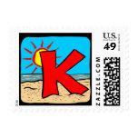 Monogram Weddings Save The Dates Postage Stamp