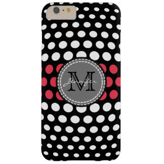 Monogram White & Desire Polka Dots Pattern Barely There iPhone 6 Plus Case