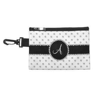 Monogram white diamonds polka dots accessories bag
