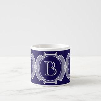 Monogram white frame espresso cup