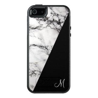 Monogram White Gray And Black Marble Stone OtterBox iPhone 5/5s/SE Case