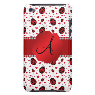 Monogram white ladybugs hearts iPod touch covers