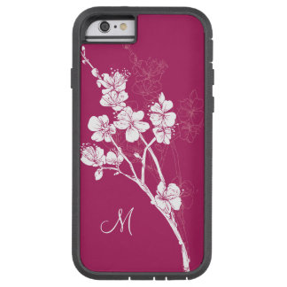 Monogram White Spring Blossoms on Acai Pink Tough Xtreme iPhone 6 Case