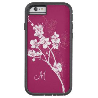 Monogram White Spring Blossoms on Acai Pink Tough Xtreme iPhone 6 Case