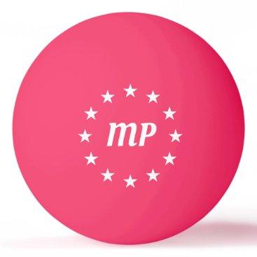 Monogram White Stars Pink Ping Pong Ball