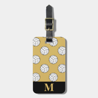Monogram White Volleyball Balls, Misted Yellow Luggage Tag