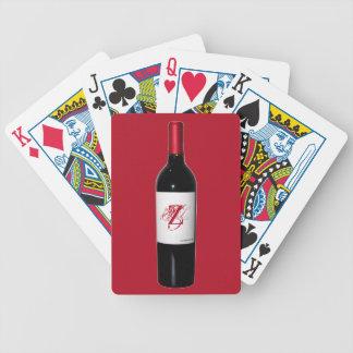 Monogram Wine Bottle Cards
