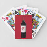 Monogram Wine Bottle Cards Bicycle Playing Cards