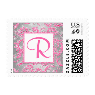 Monogram Winter Wonderland Bat Mitzvah Postage