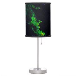 Monogram, Witch Head Nebula deep space image Desk Lamp