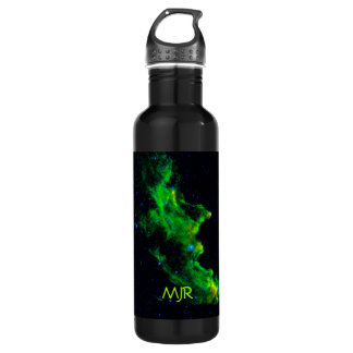 Monogram, Witch Head Nebula outer space image Water Bottle