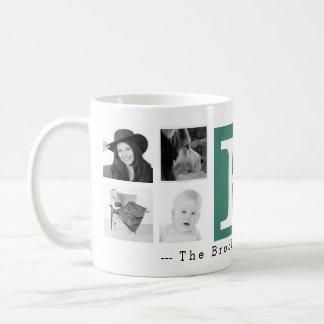 Monogram with 8 Photos and Personalization Coffee Mug