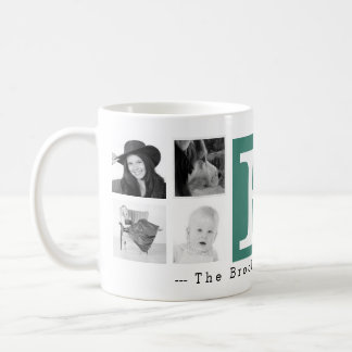 Monogram with 8 Photos and Personalization Coffee Mug