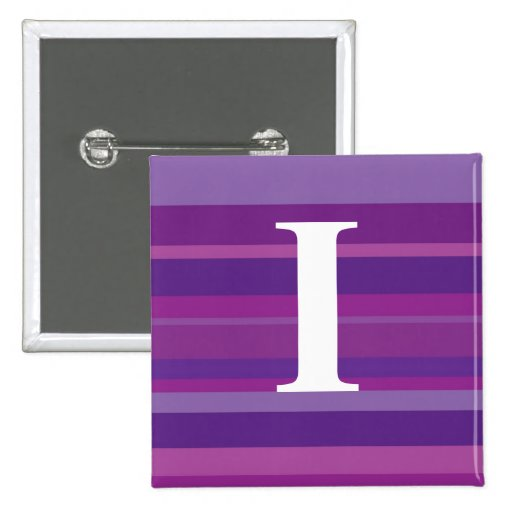 Monogram with a Colorful Striped Background - I Buttons