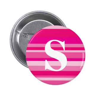 Monogram with a Colorful Striped Background - S Buttons
