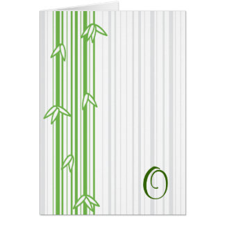 Monogram with Bamboo Background - Letter O Card