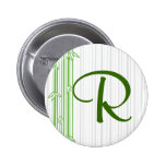 Monogram with Bamboo Background - Letter R Button