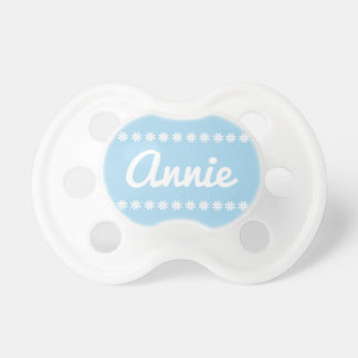 Monogram with floral bands pacifier