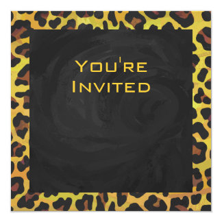 Monogram with Leopard Brown and Yellow Card