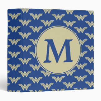 Monogram Wonder Woman Logo Pattern 3 Ring Binder