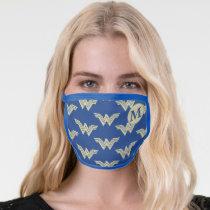 Monogram Wonder Woman Logo Pattern Face Mask