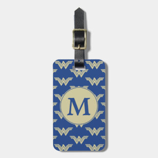 Monogram Wonder Woman Logo Pattern Luggage Tag