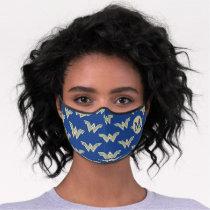 Monogram Wonder Woman Logo Pattern Premium Face Mask