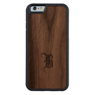 Monogram Wood Finish iPhone cover