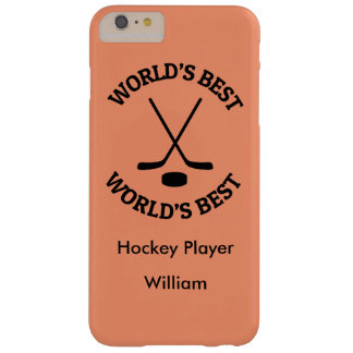 Monogram World's Best Hockey Player Barely There iPhone 6 Plus Case