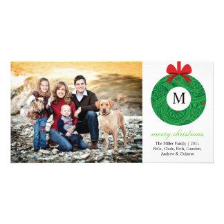 Monogram Wreath Card