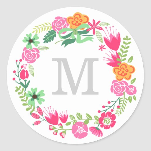 Monogram Wreath Envelope Seal