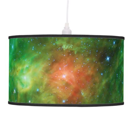Monogram Wreath Nebula, outer space picture Ceiling Lamp