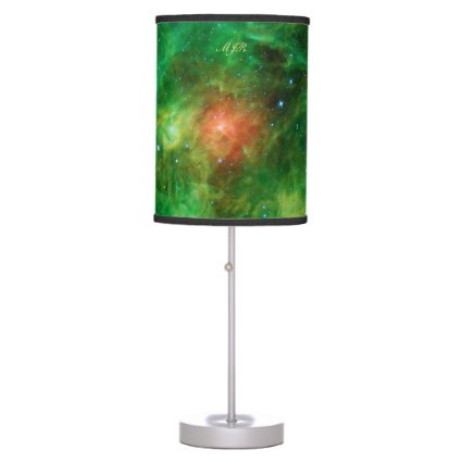 Monogram Wreath Nebula, outer space picture Table Lamps