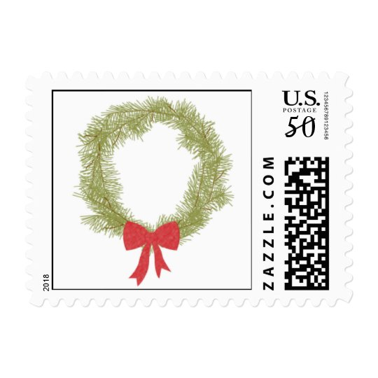 Monogram Wreath Postage