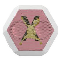 Monogram X Agile Pony Customised White Bluetooth Speaker