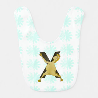 Monogram X Agile Pony Customized Baby Bib
