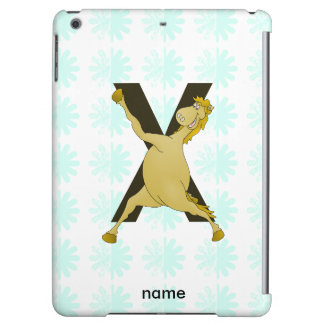 Monogram X Agile Pony Customized iPad Air Cover