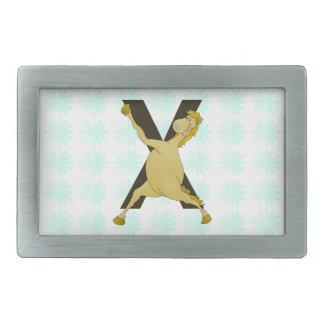 Monogram X Agile Pony Customized Rectangular Belt Buckle
