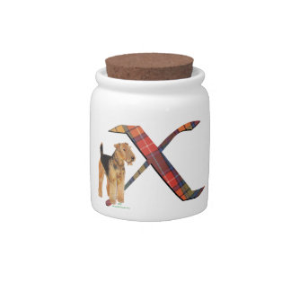 Monogram X Candy Jars