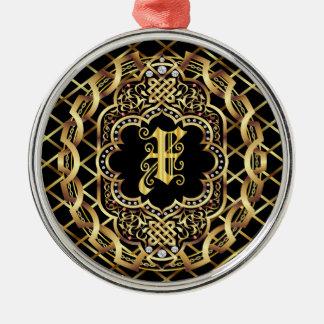 Monogram X IMPORTANT Read About Design Metal Ornament