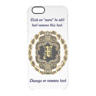 Monogram X iPhone 5/5s & 6-6 plus  Deflector Case Uncommon Clearly™ Deflector iPhone 6 Case