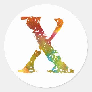 Monogram - X - Sticker